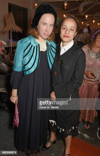 Frances von Hofmannsthal and Grace Wales Bonner attend Stephen Jones 100th Birthday gala dinner celebrating his 60th birthday and 40 years in...
