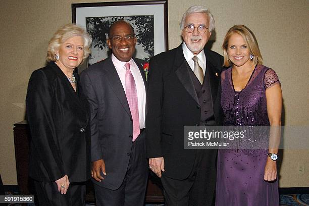Frances W Preston Al Roker Tony Martell and Katie Couric attend The TJ Martell Foundation 30th Anniversary Gala at Marriott Marquis Hotel on October...