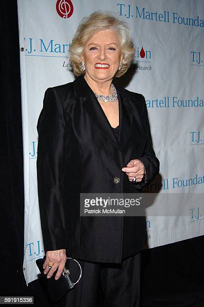 Frances W Preston attends The TJ Martell Foundation 30th Anniversary Gala at Marriott Marquis Hotel on October 6 2005 in New York City