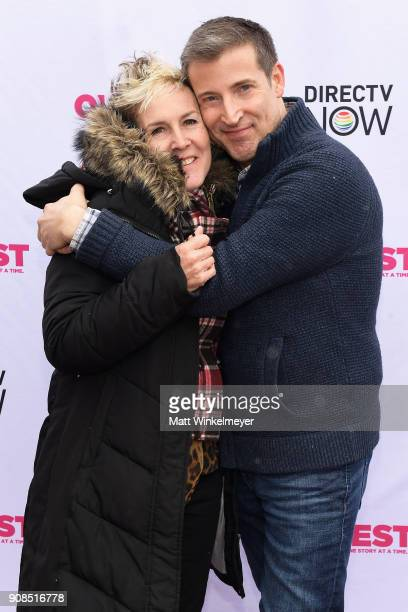 Frances Wallace and producer Christopher Racster attend Outfest Queer Brunch at Sundance Presented By DIRECTV NOW and ATT Hello Lab during the 2018...