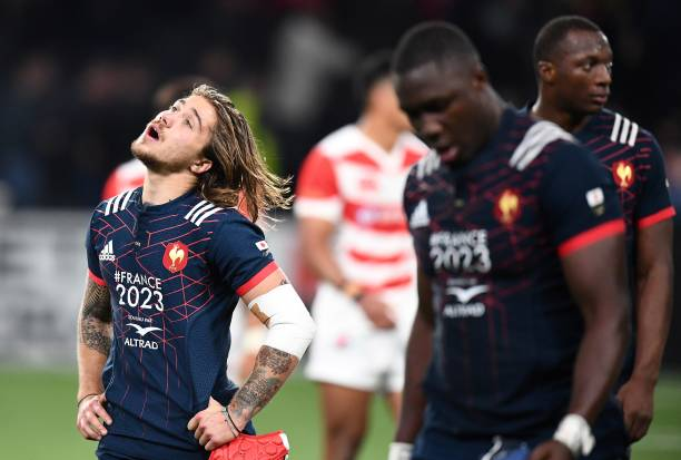 France S Winger Gabriel Lacroix L Reacts At The End Of Rugby Union International