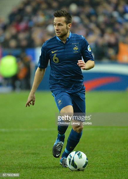 France's Yohan Cabaye during the FIFA 2014 World Cup qualifying round group I soccer match, France Vs Spain at Stade de France in Saint-Denis suburb...