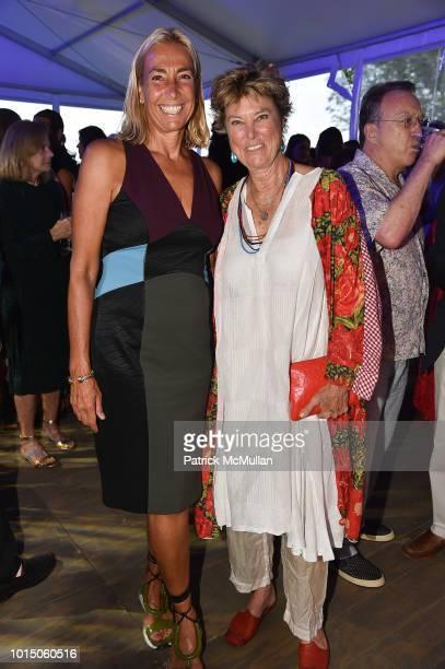 Frances Young Fuchs and Edwina von Gal attend the Guild Hall Summer Gala 2018 at Guild Hall on August 10 2018 in East Hampton New York
