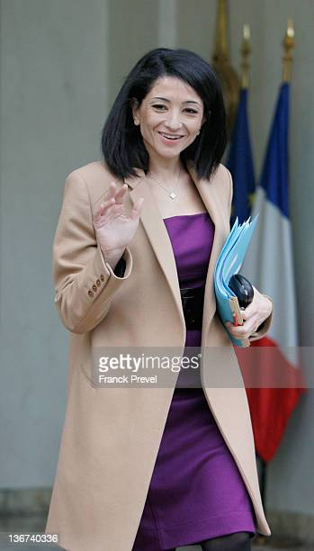 France's Youth and Associations Junior Minister Jeannette Bougrab leaves the weekly cabinet meeting at Elysee Palace on January 11 2012 in Paris...
