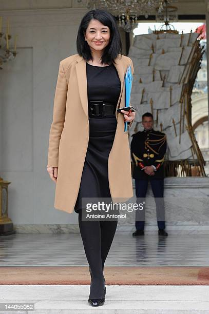 France's Youth and Associations Junior Minister Jeannette Bougrab leaves the weekly cabinet meeting at Elysee Palace on May 9 2012 in Paris France