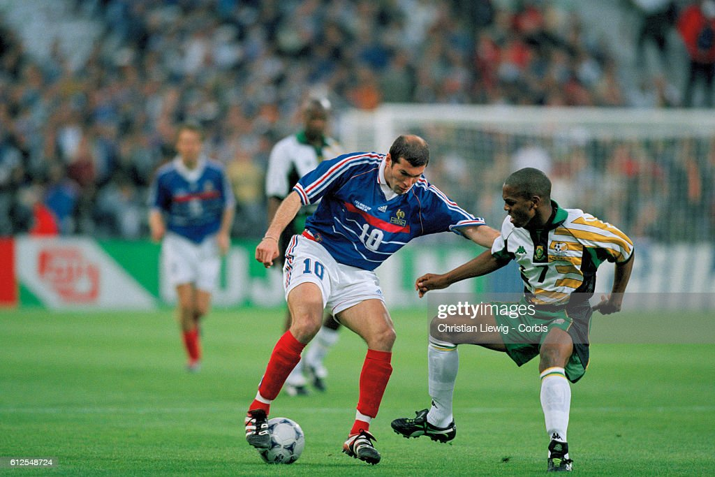 1998 World Cup: France vs South Africa : News Photo