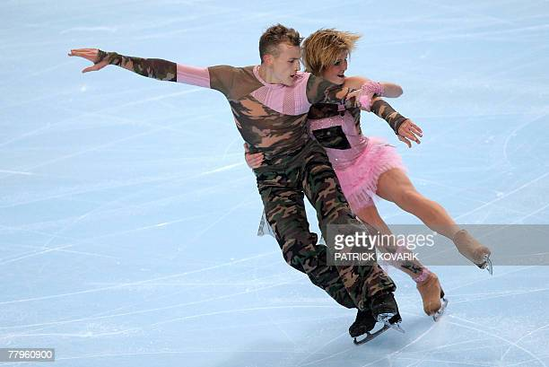 France's Zoe Blanc and PierreLoup Bouquet perform during the ice dancing free dance event at the Eric Bompard trophy the fourth in the sixleg Grand...