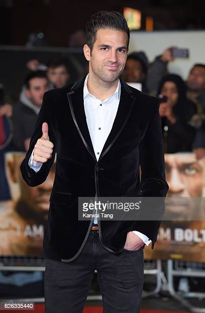 Francesc Fabregas attends the World Premiere of I Am Bolt at Odeon Leicester Square on November 28 2016 in London England