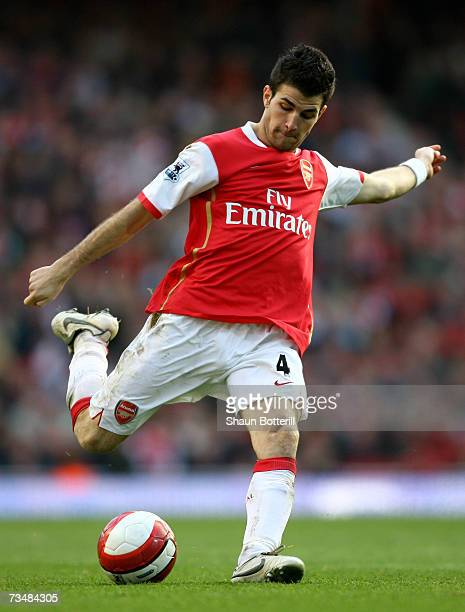 Francesc Fabregas of Arsenal in action during the Barclays Premiership match between Arsenal and Reading at The Emirates Stadium on March 3 2007 in...