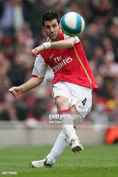 Francesc Fabregas of Arsenal in action during the Barclays Premier League match between Arsenal and Reading at the Emirates Stadium on April 19 2008...