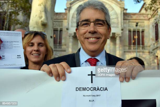 COMPANYS 14 BARCELONA CATALONIA SPAIN Francesc Homs a lawyer of the illustrious Bar Association of Vic is seen taking part of the protest About 200...
