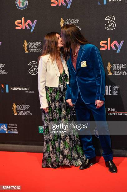 Francesca Agnelli and Manuel Agnelli walks the red carpet of the 61^ David Di Donatello on March 27 2017 in Rome Italy