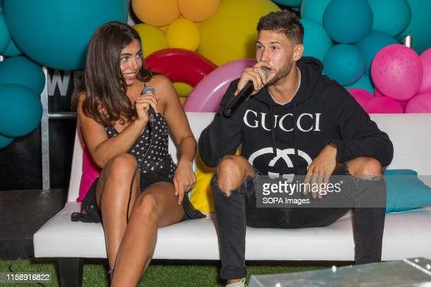 Francesca Allen and Jack Fowler attend Love Island finale screening at the Boxpark Wembley in London