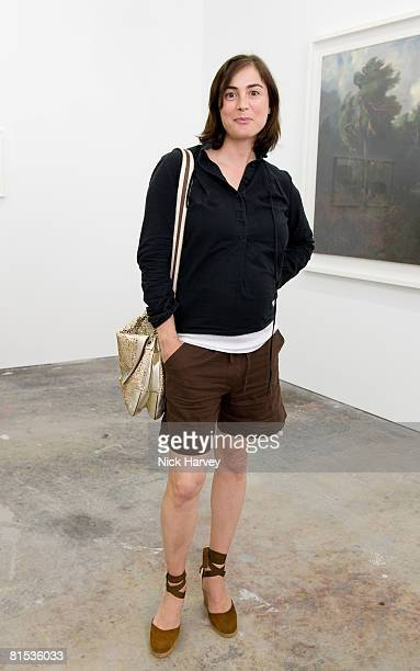 Francesca Amfitheatrof attend Marine Hugonnier's 'The Secretary of the Invisible' exhibition private view at the Max Wigram Gallery 28 Redchurch...
