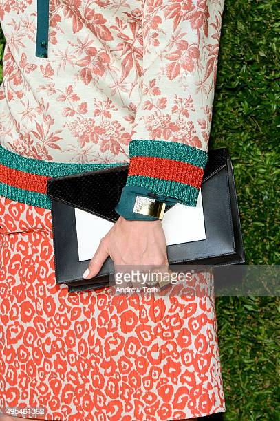 Francesca Amfitheatrof, bag detail, attends the 12th annual CFDA/Vogue Fashion Fund Awards at Spring Studios on November 2, 2015 in New York City.