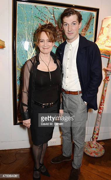 Francesca Annis and Gwilym Lee attends the afterparty for Peter Gill's Versailles at The Hospital Club on February 27 2014 in London England