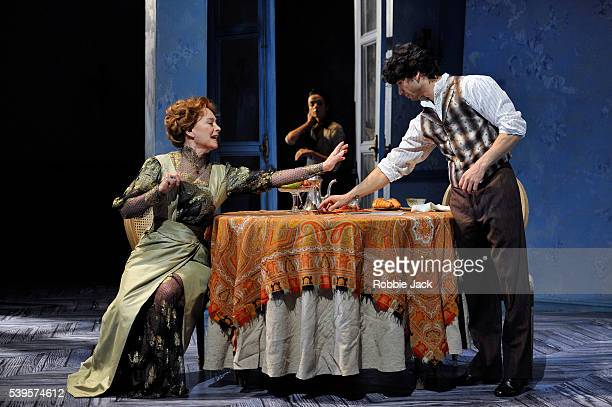 Francesca Annis as Charlotte Alessandra Ferri as Léa and Herman Cornejo as Chéri in Martha Clarke's Chéri at the Linbury Studio Theatre Royal Opera...