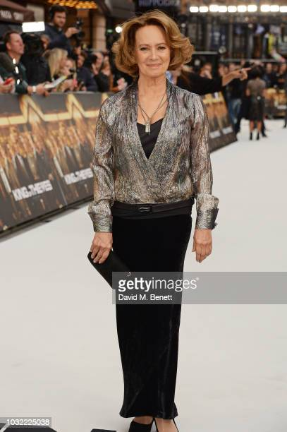"""Francesca Annis attends the World Premiere of """"King Of Thieves"""" at Vue West End on September 12, 2018 in London, England."""