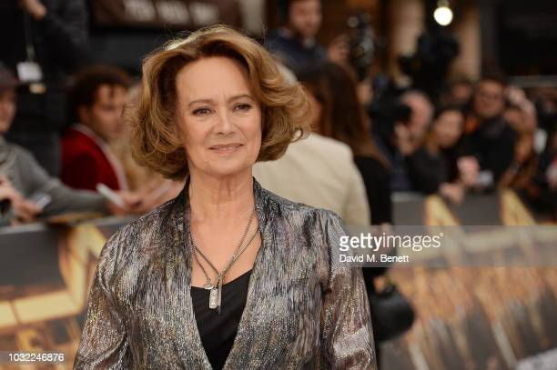 Francesca Annis attends the World Premiere of King Of Thieves at Vue West End on September 12 2018 in London England