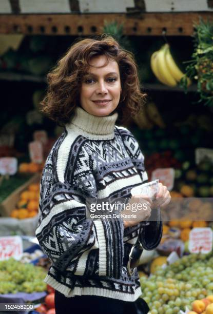 Francesca Annis poses on December 1985 in England. Actress Annis stars along with singer Prince in the film 'Dune,' in which she plays a highly...