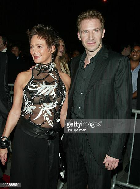 Francesca Annis Ralph Fiennes during Red Dragon New York City Premiere at Ziegfeld Theatre in New York City New York United States