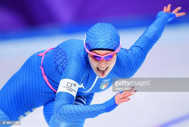 Francesca Bettrone of Italy competes during the Ladies' 500m Individual Speed Skating Final on day nine of the PyeongChang 2018 Winter Olympic Games...