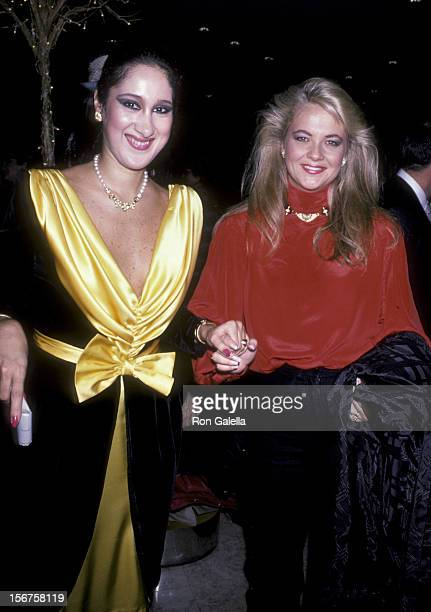 Francesca Braschi and Cornelia Guest attend Francesca Braschi Fashion Show on November 14 1985 at Saks Fifth Avenue in New York City