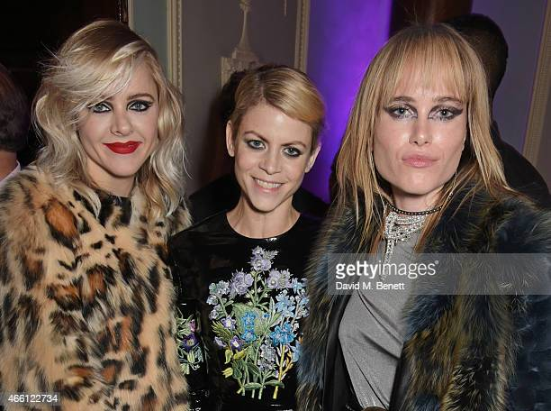 Francesca Burns Jaime Perlman and Julia Hobbs attend a party hosted by Vogue Editor Alexandra Shulman in honor of Lucinda Chambers at Home House...
