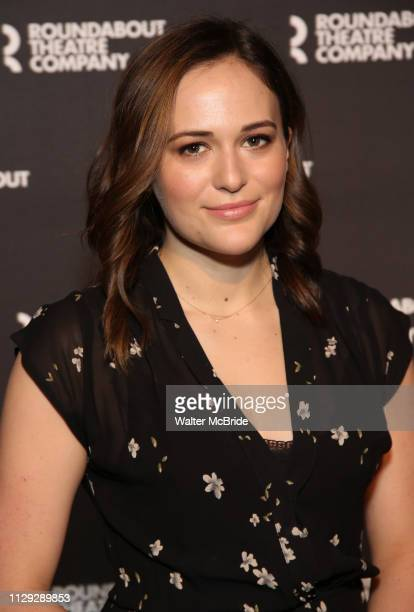 Francesca Carpanini attends the 'All My Sons' cast photo call at the American Airlines Theatre on March 8 2019 in New York City