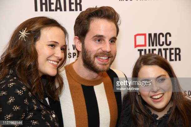 Francesca Carpanini Ben Platt and Beanie Feldstein attend the opening night performance of the MCC Theater's 'Alice By Heart' at The Robert W Wilson...