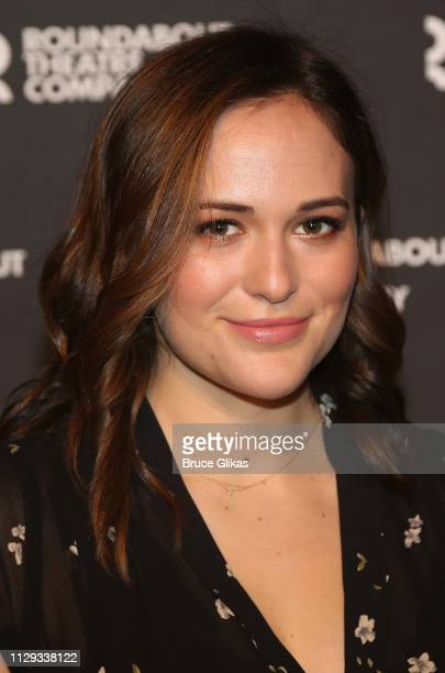 Francesca Carpanini poses at a photo call for the Roundabout Theatre Company production of Arthur Miller's All My Sons on Broadway at The American...