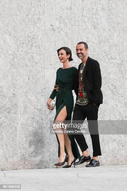 Francesca Cavallin and Fabio Novembre arrive at Convivio 2018 on June 5 2018 in Milan Italy