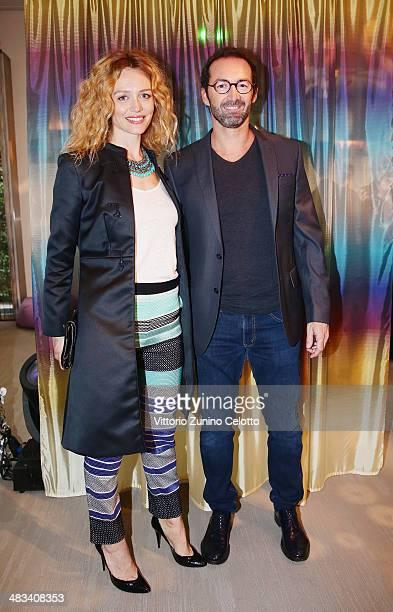 Francesca Cavallin and Stefano Remigi attend Missoni 'Wonderland' during the Milan Design Week on April 8 2014 in Milan Italy