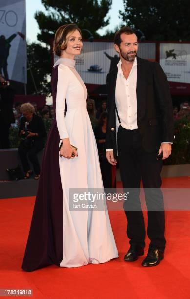 Francesca Cavallin and Stefano Remigi attend the 'Tracks' premiere during the 70th Venice International Film Festival at the Palazzo del Cinema on...