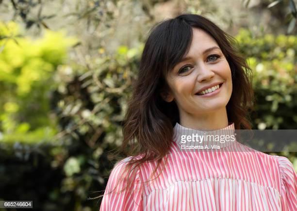 Francesca Cavallin attends a photocall for 'Di Padre In Figlia' at Rai Viale Mazzini on April 6 2017 in Rome Italy