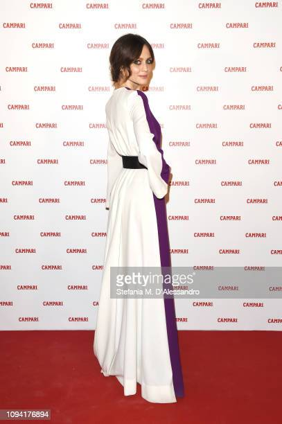 Francesca Cavallin attends Campari Red Diaries 2019 Premiere Event on February 5 2019 in Milan Italy