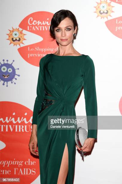 Francesca Cavallin attends Convivio photocall on June 5 2018 in Milan Italy