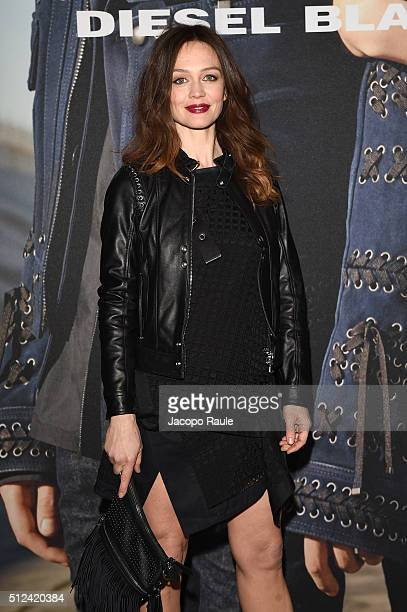 Francesca Cavallin attends the Diesel Black Gold show during Milan Fashion Week Fall/Winter 2016/17 on February 26 2016 in Milan Italy