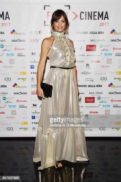 Francesca Cavallin attends the Gala Dinner of FuoriCinema on September 14 2017 in Milan Italy