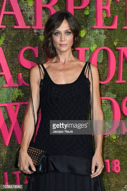 Francesca Cavallin attends the Green Carpet Fashion Awards at Teatro Alla Scala on September 23 2018 in Milan Italy