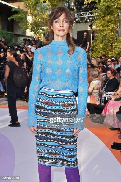 Francesca Cavallin attends the Missoni show during Milan Fashion Week Spring/Summer 2018 on September 23 2017 in Milan Italy
