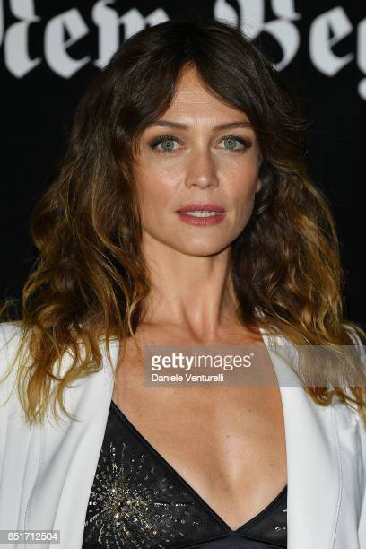 Francesca Cavallin attends theVogue Italia 'The New Beginning' Party during Milan Fashion Week Spring/Summer 2018 on September 22 2017 in Milan Italy