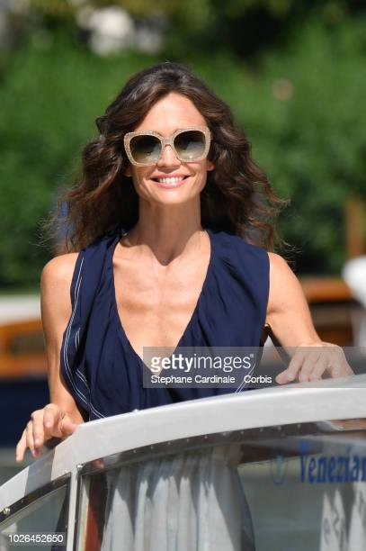 Francesca Cavallin is seen arriving at the 75th Venice Film Festival on September 3 2018 in Venice Italy