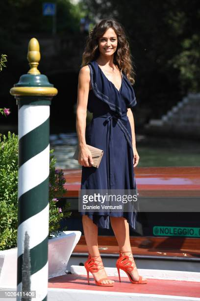 Francesca Cavallin is seen during the 75th Venice Film Festival on September 3 2018 in Venice Italy