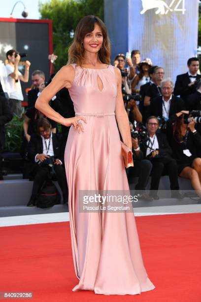 Francesca Cavallin walks the red carpet ahead of the 'Downsizing' screening and Opening Ceremony during the 74th Venice Film Festival at Sala Grande...