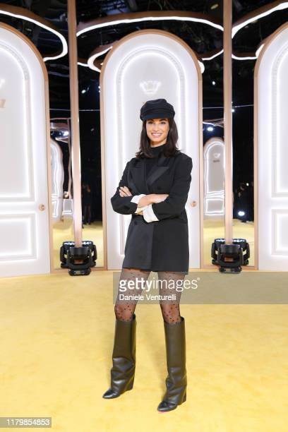 Francesca Chillemi attends the Calzedonia Leg Show 2019 on October 08, 2019 in Verona, Italy.