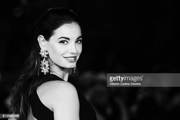 Francesca Chillemi walks a red carpet on October 13 2016 in Rome Italy