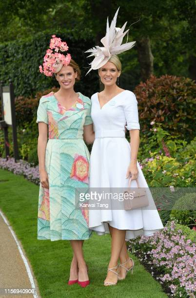 Francesca Cumani and Charlotte Hawkins attend day two of Royal Ascot at Ascot Racecourse on June 19 2019 in Ascot England