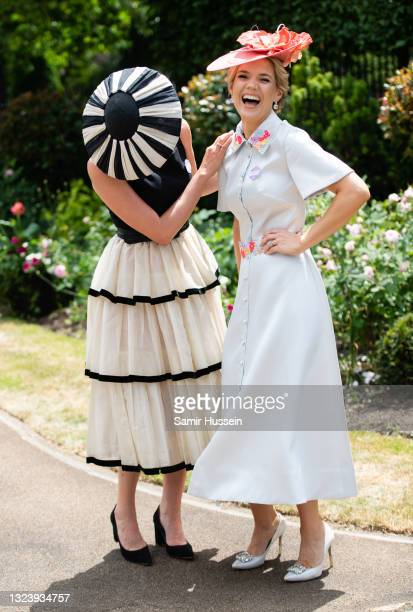 Francesca Cumani and Charlotte Hawkins Royal Ascot 2021 at Ascot Racecourse on June 16, 2021 in Ascot, England.