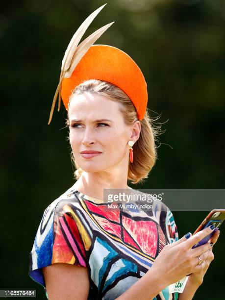 Francesca Cumani attends 'Ladies Day' of the Qatar Goodwood Festival 2019 at Goodwood Racecourse on August 1 2019 in Chichester England